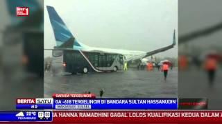 Pesawat Garuda Indonesia Tergelincir di Makassar