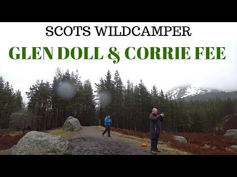 Glen doll , Corrie fee at Balmoral estate at Cairngorms National Park Wild camping UK Angus glens.