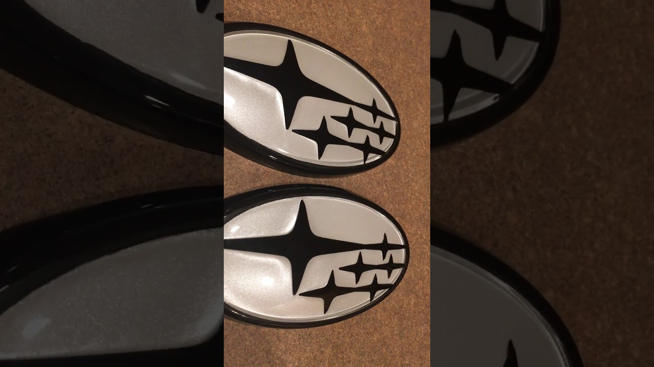 Custom Subaru Emblem >> Custom Subaru Emblem Black Stars With A White Pearl Background