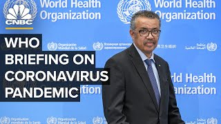 World Health Organization holds news conference on the coronavirus pandemic - 6/1/2020