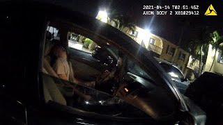 Security Guard Finds Guy Passed Out Behind The Wheel After Hitting Parked Car