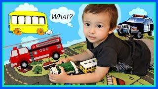 Learn Vehicles and Playing Letters Game With Sports Toy Document Dunk