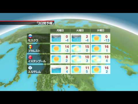 NHK 3 Day Regional Forecasts