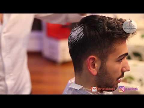 Erkekler Icin Sac Kesimi Ve Gri Sac Rengi Men Silver Hair And Haircut Youtube