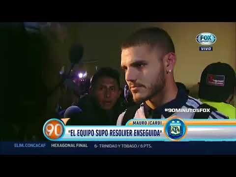 Palabras de Icardi post Ecuador 1-3 Argentina