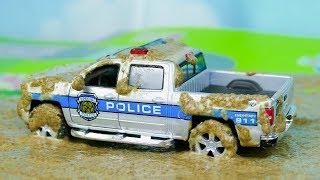 Мультик про машинки - 207 серия:  Полицейская погоня, Гоночная машина, Автобус, Авария