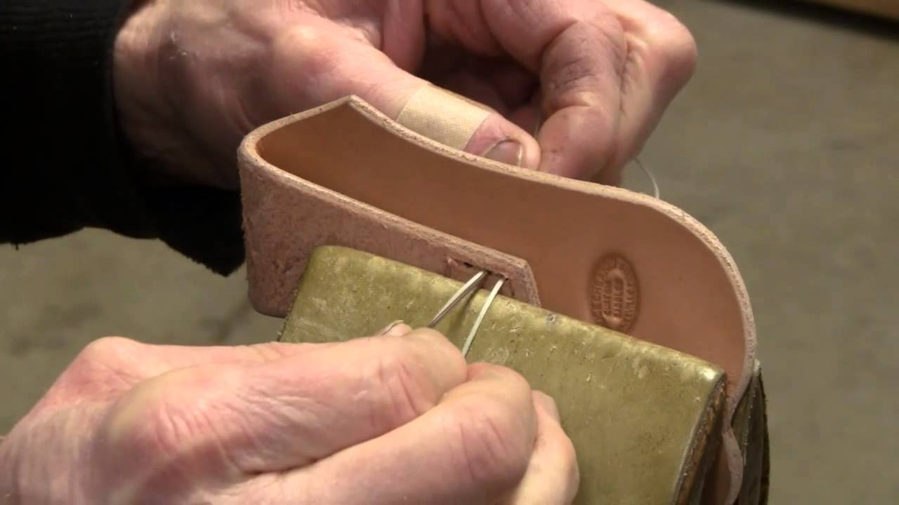 Hand Sewing Leather How To Hand Stitch Handmade Knife