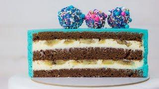 """Рецепт торта """"Банановый сюрприз"""". Повторит даже новичок. Как собрать и украсить торт на Новый год"""