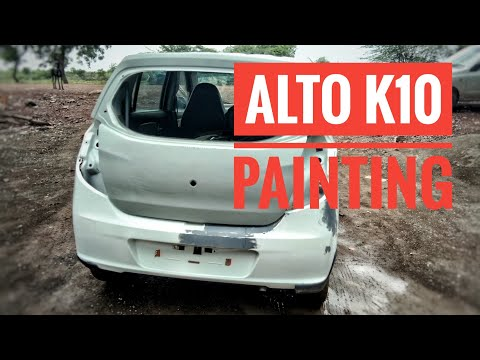 how to remove deep scratch from car / Alto k10 Bumper restoration And Painting