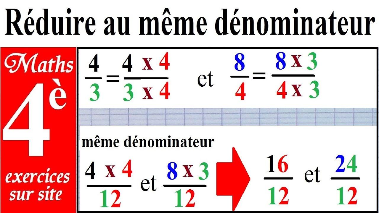maths 4 232 me r 233 duire au m 234 me d 233 nominateur r 232 gle de r 233 duction