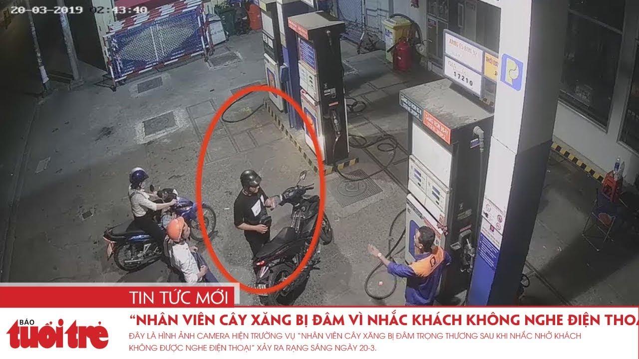 """Vụ """"Nhân viên cây xăng bị đâm vì nhắc khách không nghe điện thoại"""" – Truy xuất camera hiện trường"""