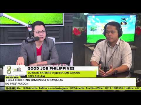 Jon Orana Radio Interview on Good Job Philippines