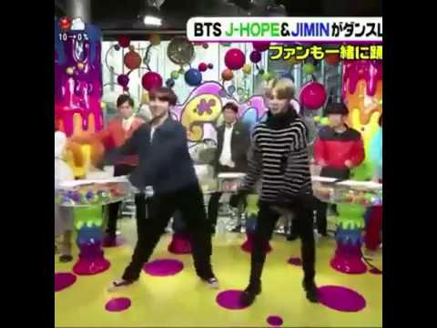 BTS JIMIN AND JHOPE DANCING TO GO GO AT NIPPON TV'S JAPAN