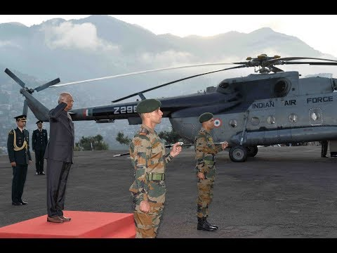 President Kovind arrives in Kohima on his first visit to Nagaland
