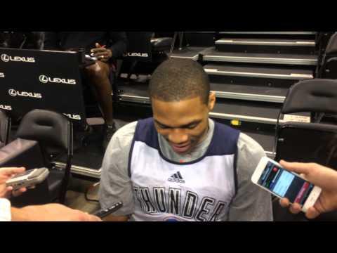Westbrook: Shootaround in Utah
