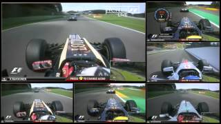 F1 2012 - R12 - Raikkönen vs Schumacher Full battle onboard Spa