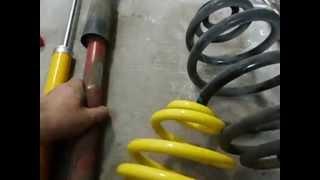 montaż zawieszenia gwintowanego fk automotive audi a6 c5 tył