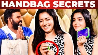 Actress Chaya Singh Handbag Secrets Revealed By Vj Ashiq | What's Inside The Handbag?