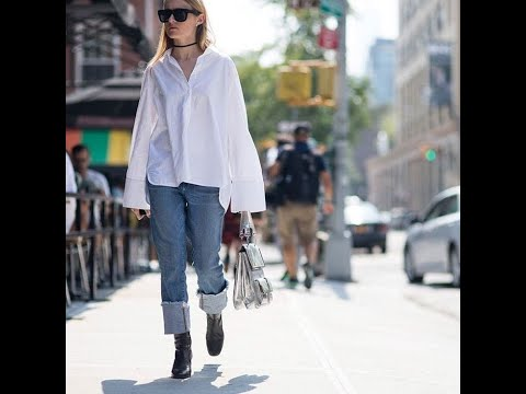 Perfect Casual Chic White Shirt and Jeans Combination Mp3