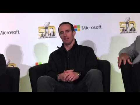 Drew Brees On How Tech Helps Football #SB50