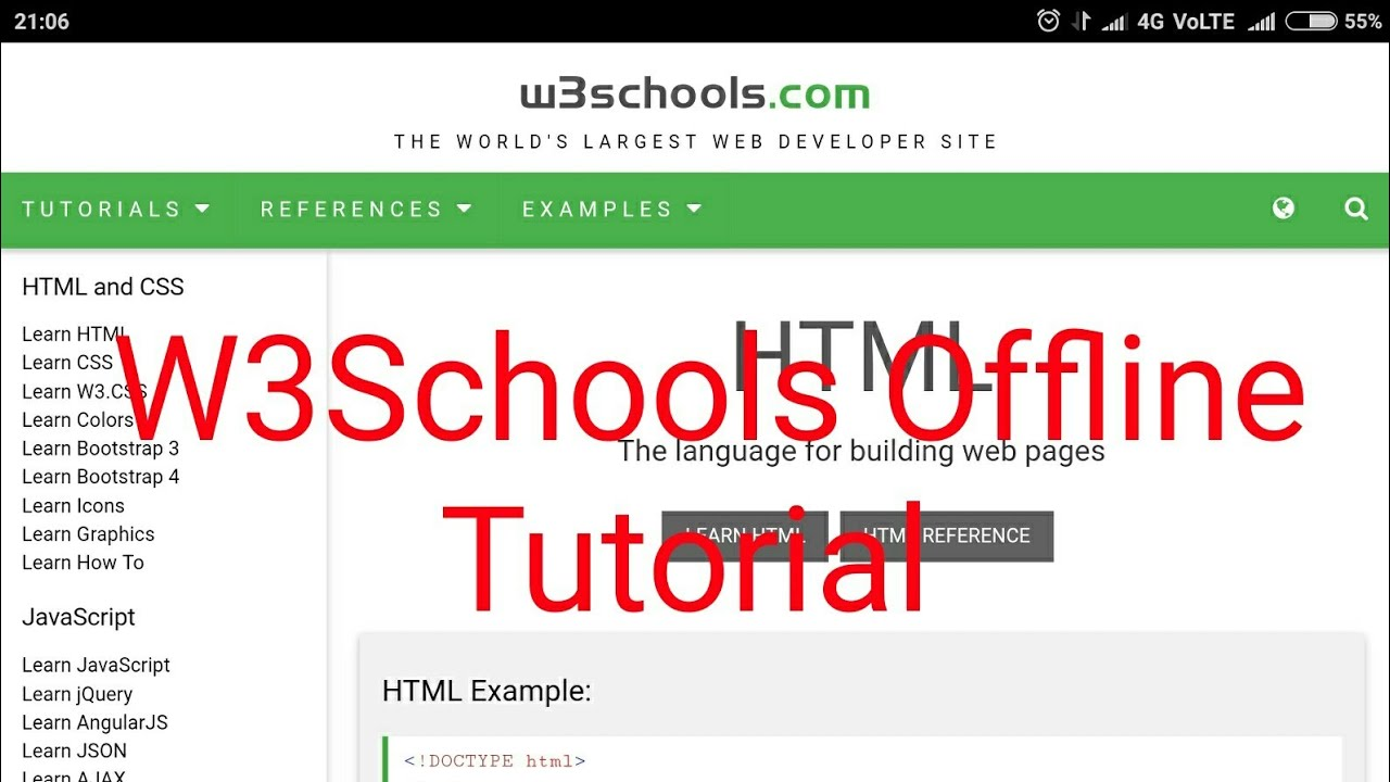 W3Schools Offline tutorial free download