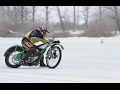 Jawa 500 speedway racing bike test on ice - Wolves on Ice - Speedway on Ice