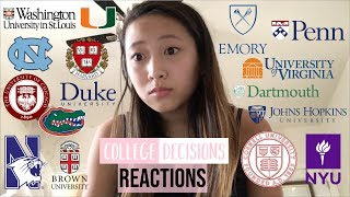 I APPLIED TO 15+ COLLEGES?!? MY REACTIONS AND WHERE I'M GOING 2018