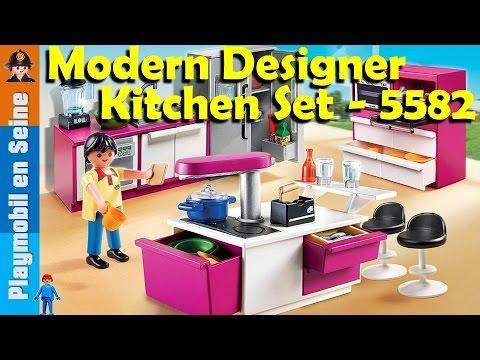 Playmobil cuisine avec ilot ouverture boite et montage for Cuisine playmobil