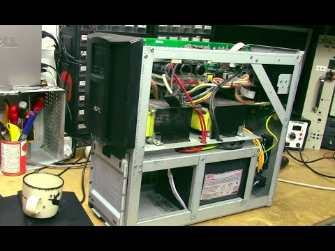 Trash-picked APC Smart-UPS 2200 battery removal & hacks