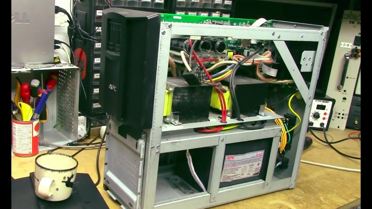 Trash-picked APC Smart-UPS 2200 battery removal & hacks
