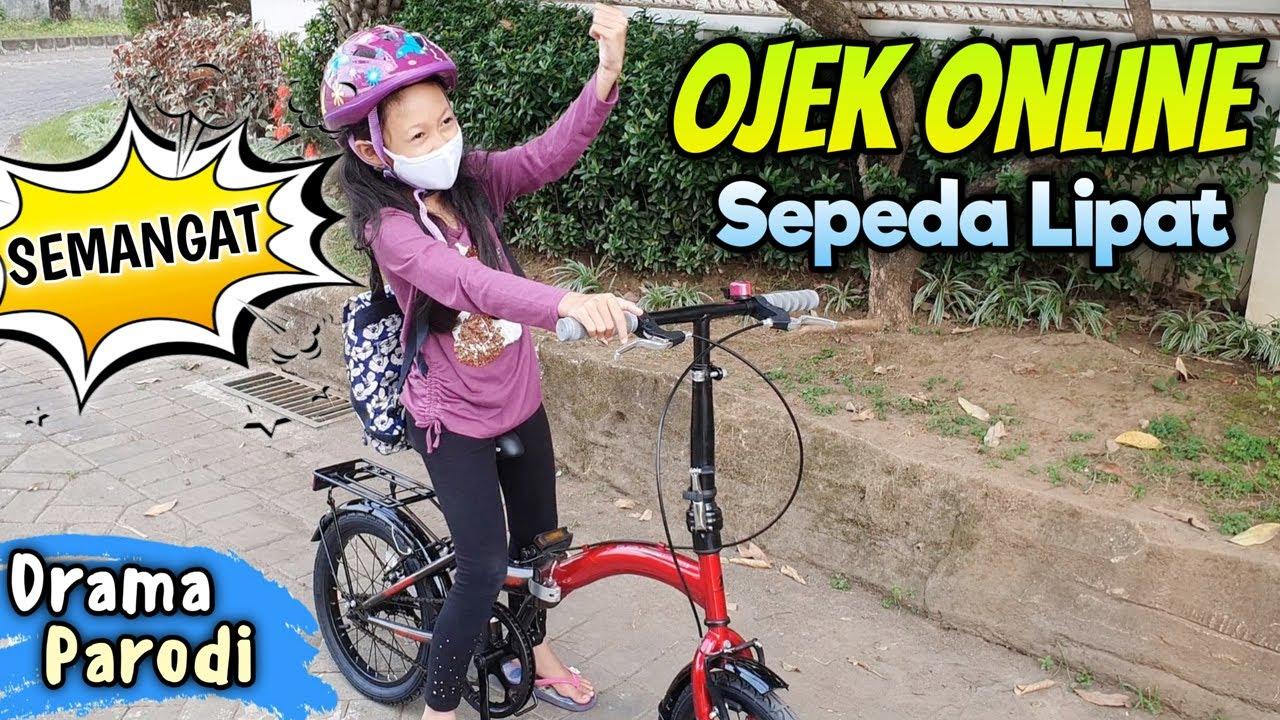 Ojek Online Sepeda Lipat 😄 Parodi Aqilla's Diary