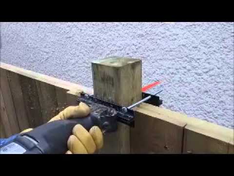 How To Cut 4x4 Fence Posts Using The Universal