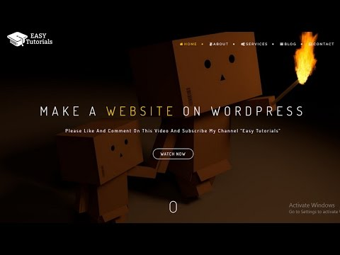 How To Make A Website On WordPress In Hindi 2017 (BeOnePage Theme)