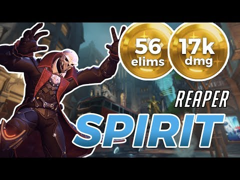 Overwatch - SPRIT's Reaper TOP 20 NA WITH 19 DEATH BLOSSOM KILLS On Kings Row [SEASON 11]
