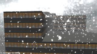 Falling snow based on dynamically calculated wind fields (new)