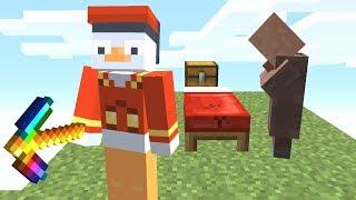 Ich baue heimlich sein Bett als Fake Villager ab 😂👌🏻💯.. Minecraft LUCKY BLOCK BEDWARS