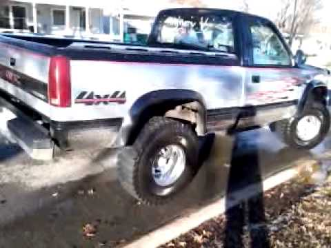 1991 Gmc Sierra Lifted With A 350 And Glasspack Exhaust