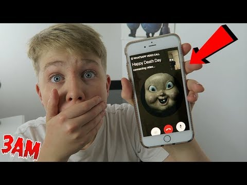DO NOT FACETIME HAPPY DEATH DAY AT 3AM!! (OMG HE CAME TO MY HOUSE!!)