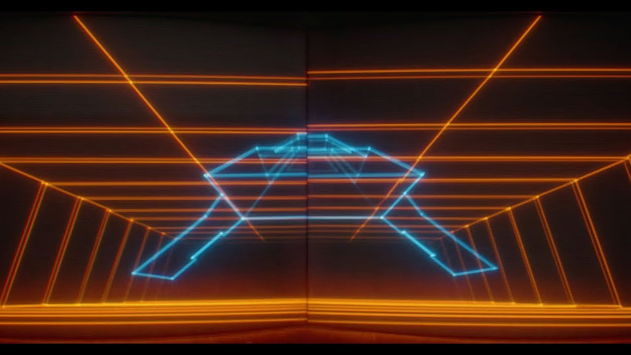 TANK, a 2-minute visual homage to 80s vector arcade games