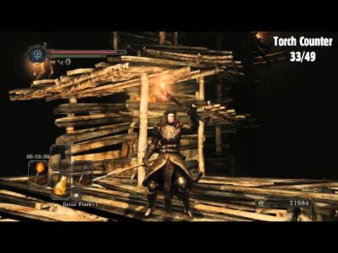 Dark Souls 2: Scholar of the First Sin - The Gutter - All torch locations
