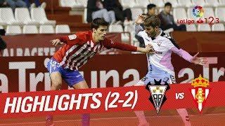 Resumen de Albacete Balompié vs Sporting de Gijón (2-2)