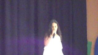 Diana singing Girlfriend by Avril Lavgine