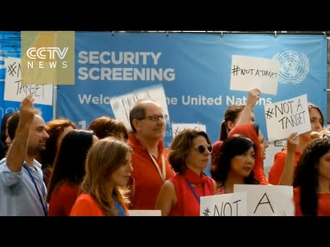 UN workers protest against aid convoy attack