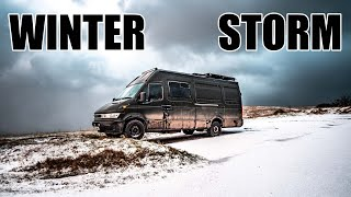 Vanlife In A Winter Storm... Lost In Europe //195