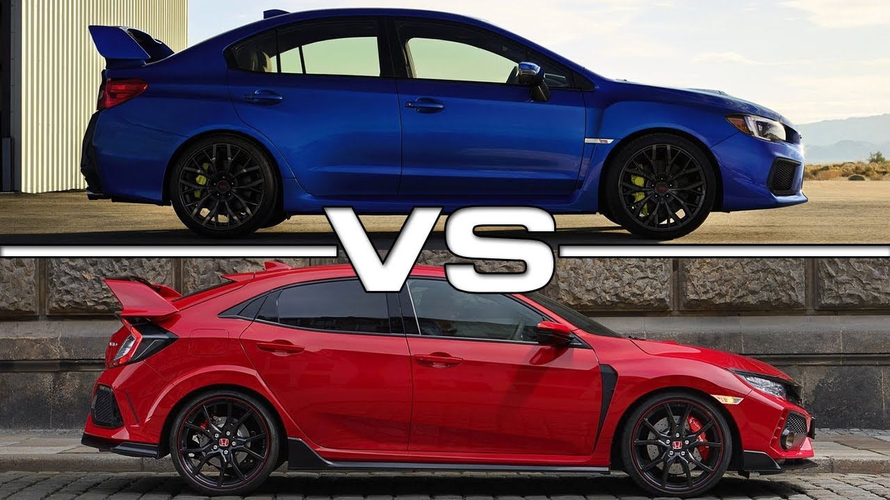 2018 Subaru WRX STI vs 2018 Honda Civic Type R  YouTube