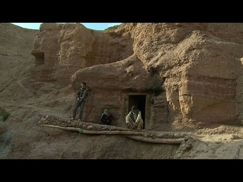 Bamiyan's ancient cave dwellings shelter homeless Afghans