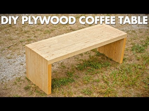 Thumbnail: DIY Plywood Coffee Table Made With One Sheet Of Plywood - Woodworking