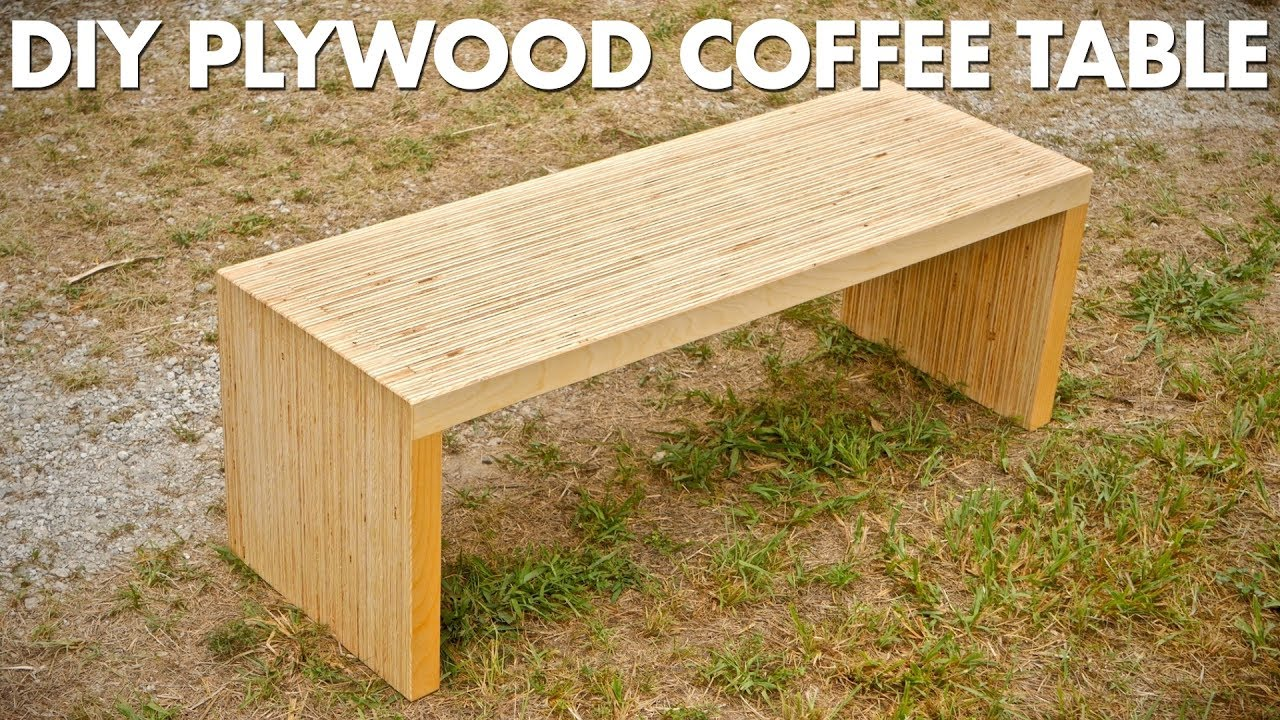 Beau DIY Plywood Coffee Table Made With One Sheet Of Plywood   Woodworking