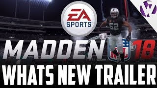 Madden 18 what's new trailer live reaction! new target passing and more features!! - madden 18 news
