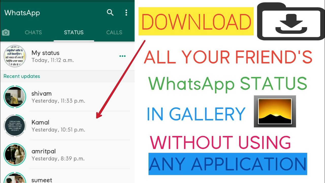 How To Download Whatsapp Status In Android 2020 How To Copy Friends Whatsapp Status 2020